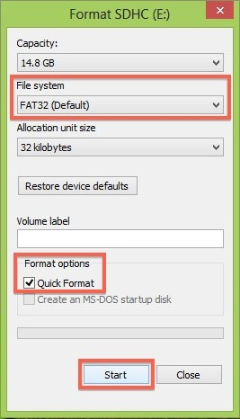 How to format your SD card for Explore1 – Skycatch Support